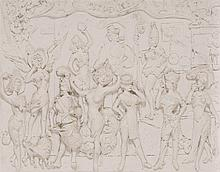 § EDUARDO PAOLOZZI K.B.E., R.A. (SCOTTISH 1924-2005) LES MERVEILLES 42cm x 54cm (16.5in x 21.25in)