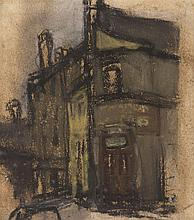 § JOAN EARDLEY R.S.A. (SCOTTISH 1921-1963) A VIEW OF EARDLEY'S TOWNHEAD STUDIO 14.5cm x 13cm (5.75in x 5.25in)
