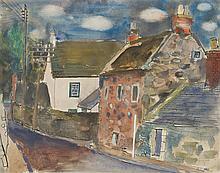 § ROBERT HENDERSON BLYTH R.S.A., R.S.W. (SCOTTISH 1919-1970) ABERNETHY 25cm x 32cm (9.75in x 12.5in)