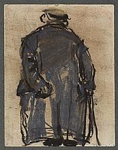 § JOAN EARDLEY R.S.A. (SCOTTISH 1921-1963) THE OLD AGE PENSIONER 13.5cm x 10cm (5.25in x 4in)