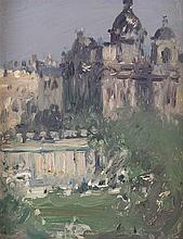 § JOHN DUNCAN FERGUSSON R.B.A. (SCOTTISH 1874-1961) THE MOUND, EDINBURGH 12.5cm x 10cm (5in x 4in)
