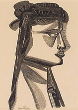 § ROBERT COLQUHOUN (SCOTTISH 1914-1962) HEAD 49cm x 35cm (19.25in x 13.75in