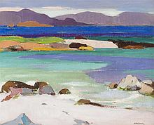§ SPENCE SMITH R.S.A. (SCOTTISH 1880-1951) SOUND OF IONA 51cm x 61cm (20in x 24in)