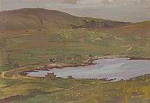 § STANLEY CURSITER C.B.E., R.S.A., R.S.W. (SCOTTISH 1887-1976) HAROLDSWICK, UNST 24cm x 33cm (9.5in x 13in)