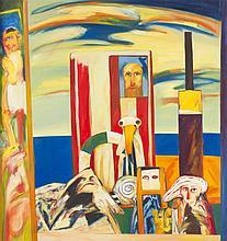 § JOHN BELLANY O.B.E., R.A., H.R.S.A. (SCOTTISH 1942-2013) THE VOYAGE, 1974 188cm x 193.5cm (74in x 76in)
