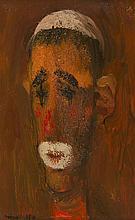 § ALBERTO MORROCCO R.S.A., R.S.W., R.P., R.G.I., L.L.D. (SCOTTISH 1917-1998) HEAD OF A CLOWN 22cm x 14cm (8.75in x 5.5in)
