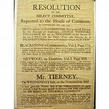 Election Corruption Poster, 1797 - Southwark, London