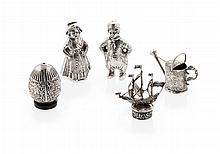 A group of Dutch novelty items Figure height: 74mm, combined weight: 6.5oz