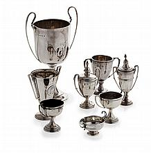 A small group of various modern trophies Combined weighable silver: 19.91oz