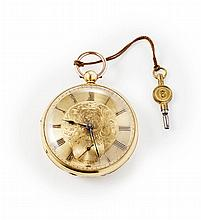 SCOTT MONUMENT INTEREST - An 18ct gold presentation pocket watch Dial diameter: 50mm