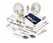 A collection of miscellaneous silver to include Weighable silver: 56oz