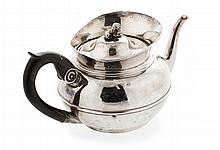 A 19th century continental silver teapot 14.5oz
