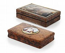 Two early 19th century snuff boxes Widths: 85mm and 90mm