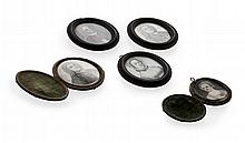A group of miniatures relating to the Danvers family Average size of images: 57mm x 45mm