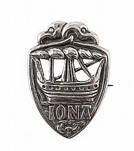 IONA - A SCOTTISH PROVINCIAL BROOCH Height: 4cm