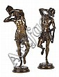 ALBERT-ERNEST CARRIER BELLEUSE (FRENCH 1824-1887), PAIR OF BRONZE FIGURES DANSEUR NAPOLITAIN AU TAMBOURIN AND DANSEUR NAPOLITAIN AU...