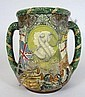 LARGE ROYAL DOULTON GEORGE V JUBILEE LOVING CUP 20TH CENTURY 26cm high