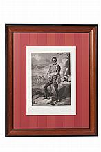 LOUIS FRANCOIS CHARON (FRENCH 1783-1840S) EIGHT ENGRAVED PRINTS OF NAPOLEON'S OFFICERS 50.5cm x 36.5cm excluding frame