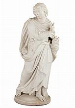 WHITE MARBLE FIGURE 19TH CENTURY 69cm high