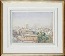 WILLIAM ARNOLD STEWART, FRSA (BRITISH, 1882-1953) VIEWS OF CAIRO AND EGYPT 23cm x 30.5cm; 23cm x 30.5cm; 24.5cm x 34cm
