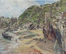 ALEXANDER ROCHE R.S.A., R.P. (SCOTTISH 1861-1921) POLPERRO, CORNWALL 35.5cm x 43.5cm (14in x 17.25in)