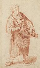 ATTRIBUTED TO ADRIAN BROUWER THE HURDY GURDY PLAYER 13.5cm x 8cm (5.25in x 3.25in)