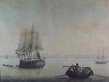 J** WADDELL (18TH/19TH CENTURY SCOTTISH) THE ROYAL BOUNTY OF LEITH 34cm x 46cm (13.5in x 18in)