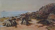 WALLER HUGH PATON R.S.A., R.S.W. (SCOTTISH 1828-1895) NORTH BERWICK, 15TH JULY 1876 19.5cm x 35.5cm (7.75in x 14in)