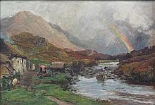 DAVID FARQUHARSON A.R.A., A.R.S.A., R.S.W. (SCOTTISH 1840-1907) GLEN STRAE 20cm x 30cm (8in x 12in)