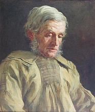 ROBERT HOPE R.S.A. (SCOTTISH 1869-1936) THE DALESMAN 60cm x 49cm (23.5in x 19.25in)