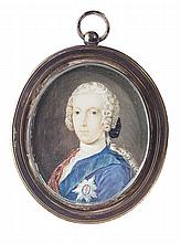 PORTRAIT MINIATURE OF CHARLES EDWARD STUART 5.5cm x 4.5cm (2.25in x 1.75in)