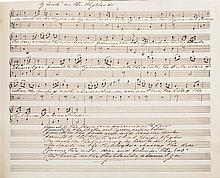 Jacobite and Scottish manuscript folk music, including words by Robert Burns, early 19th century