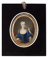 AFTER ANTONIO DAVID PORTRAIT MINIATURE OF MARIA CLEMENTINA SOBIESKA 7.5cm x 5.5cm (3in x 2.25in), oval