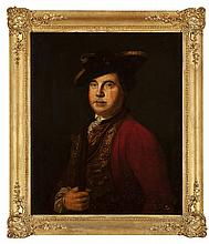 18TH CENTURY ENGLISH SCHOOL HANOVERIAN OFFICER 73.5cm x 61.5cm (29in x 24.25in)