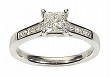 A platinum mounted diamond set ring Ring size: N