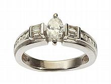 An unusual diamond set ring Ring size: J