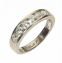 A diamond set half hoop eternity ring Ring size: U, estimated total diamond weight: 1.17cts