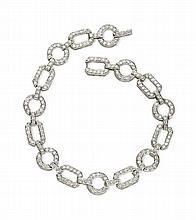 A diamond set bracelet 18.5cm long