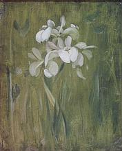 JAMES STUART PARK (SCOTTISH 1862-1933) IRISES 37cm x 29cm (14.5in x 11.5in)