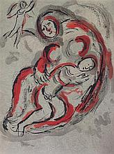 § MARC CHAGALL (FRENCH/RUSSIAN 1875-1985) HAGAR IN THE DESERT 35.5cm x 26cm (14in x 10.25in)