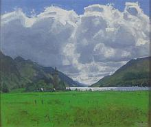 CHARLES SIMPSON (SCOTTISH CONTEMPORARY) GLENFINNAN 48cm x 59cm (18.5in x 23in)