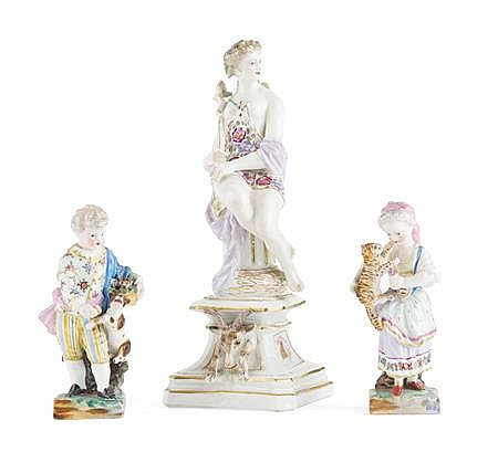 COLLECTION OF PORCELAIN FIGURES largest 20.5cm high