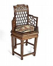 CHINESE OPEN ARMCHAIR 54cm wide, 92cm high, 36cm deep