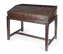 OAK CLERKS CHEST MID 18TH CENTURY AND LATER 109cm wide, 67cm high, 63cm deep
