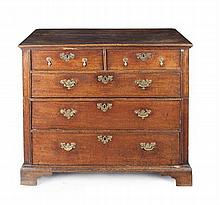 OAK CHEST OF DRAWERS 95cm wide, 87cm high, 52cm deep