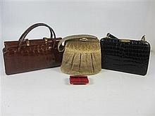COLLECTION OF ANIMAL SKIN HANDBAGS