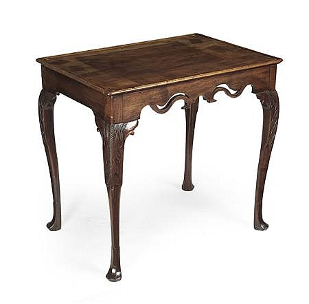 IRISH GEORGE III MAHOGANY TEA TABLE 18TH CENTURY 78cm wide, 72cm high, 54cm deep