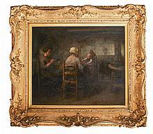 ROBERT MCGREGOR R.S.A. (SCOTTISH 1847-1922) SUPPER-TIME 55cm x 65cm (21.5in x 25.5in)