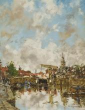 § JOHAN HENDRICK VAN MASTENBROECK (DUTCH 1875-1945) AT DELPHAVEN 35.5cm x 28cm (14in x 11in)