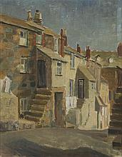 § SIR TERRY FROST R.A. (BRITISH 1915-2003) ST. IVES 49.5cm x 39.5cm (19.5in x 15.5in) and accompanying book 'Terry Frost' by David L.